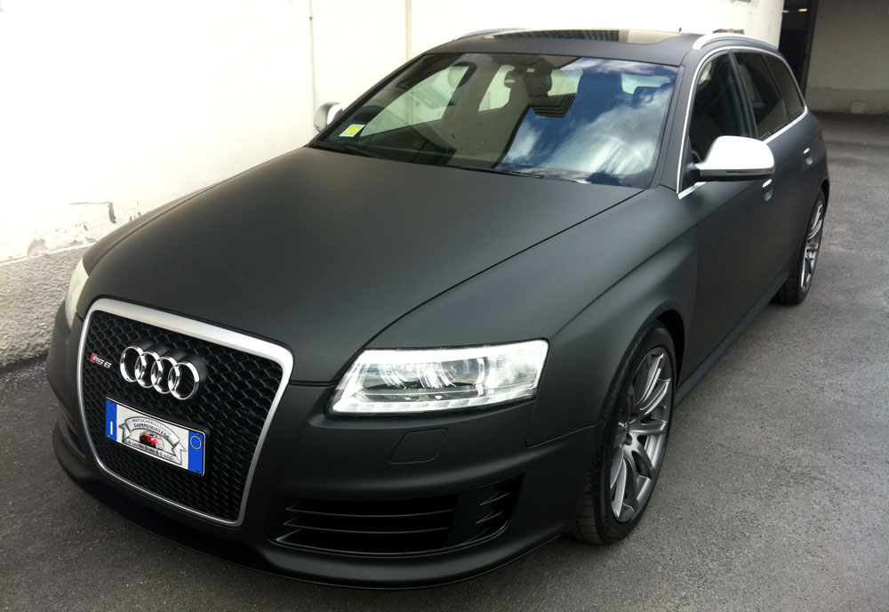 Car Wrapping Audi nero opaco