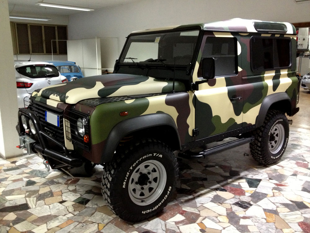 Car wrapping Land Rover