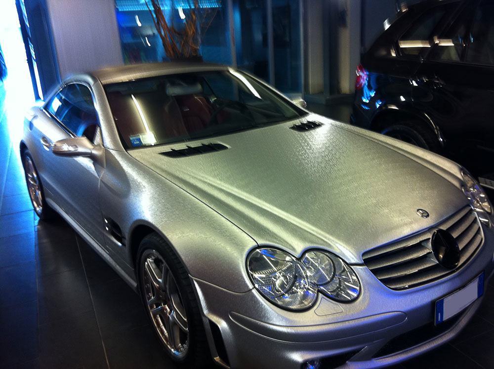 Car wrapping Mercedes